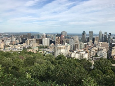 La vue au sommet du Mont-Royal